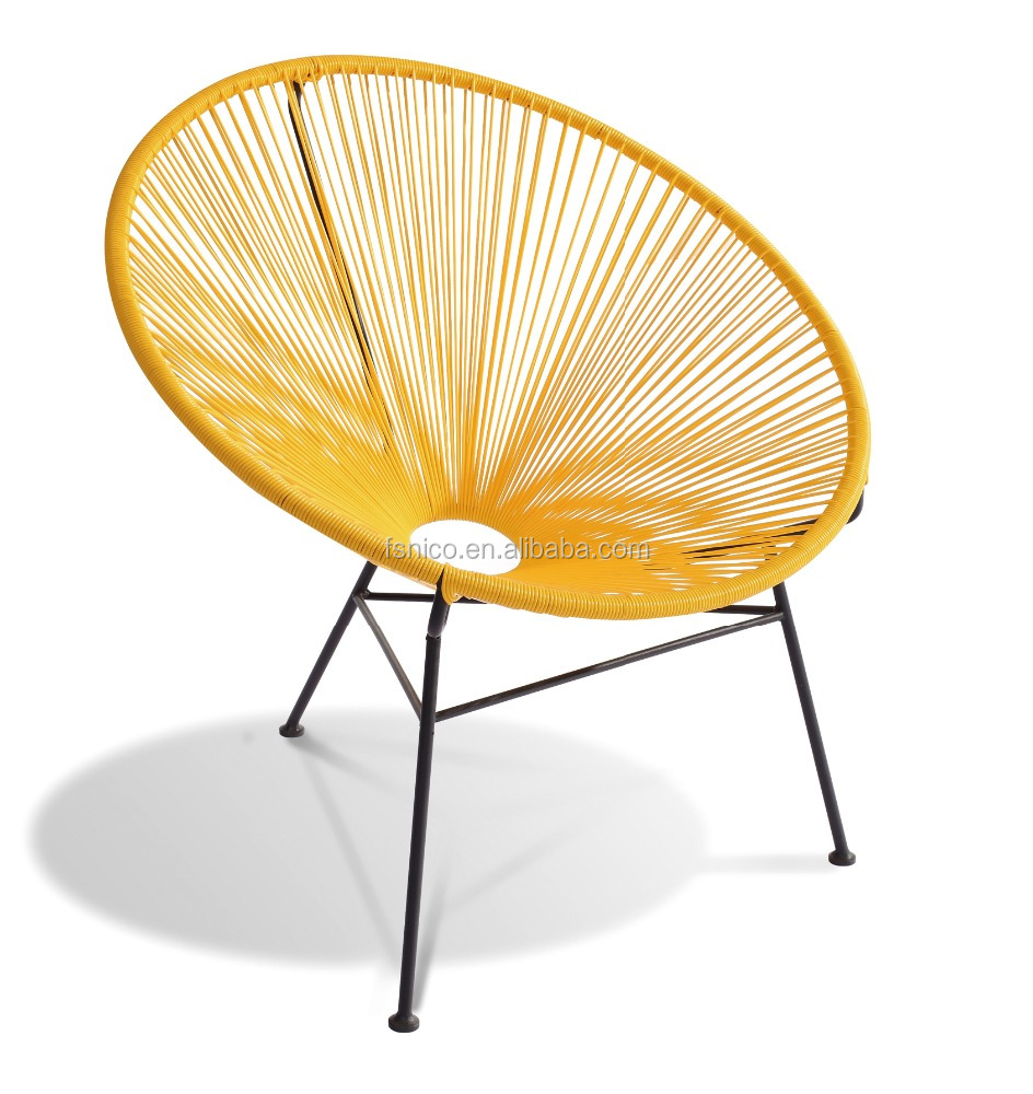 Poly rattan wicker outdoor chair plastic string chair