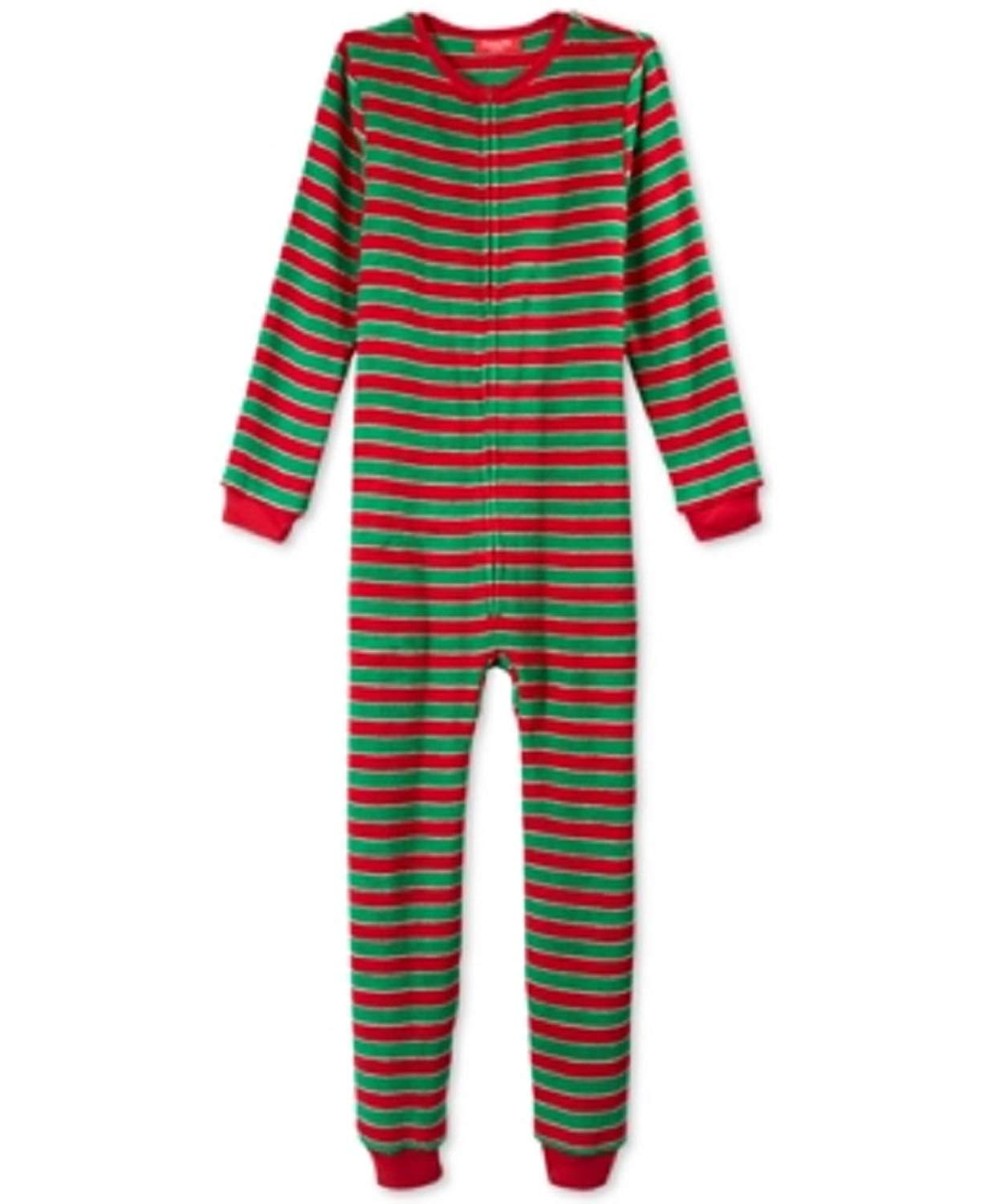8b5d4dfe76 Get Quotations · Charter Club Kids Holiday Jumpsuit Pajamas Stripe 10-12