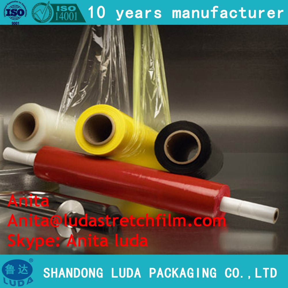 Linear low density polyethylene clear hand use power wrap stretch film