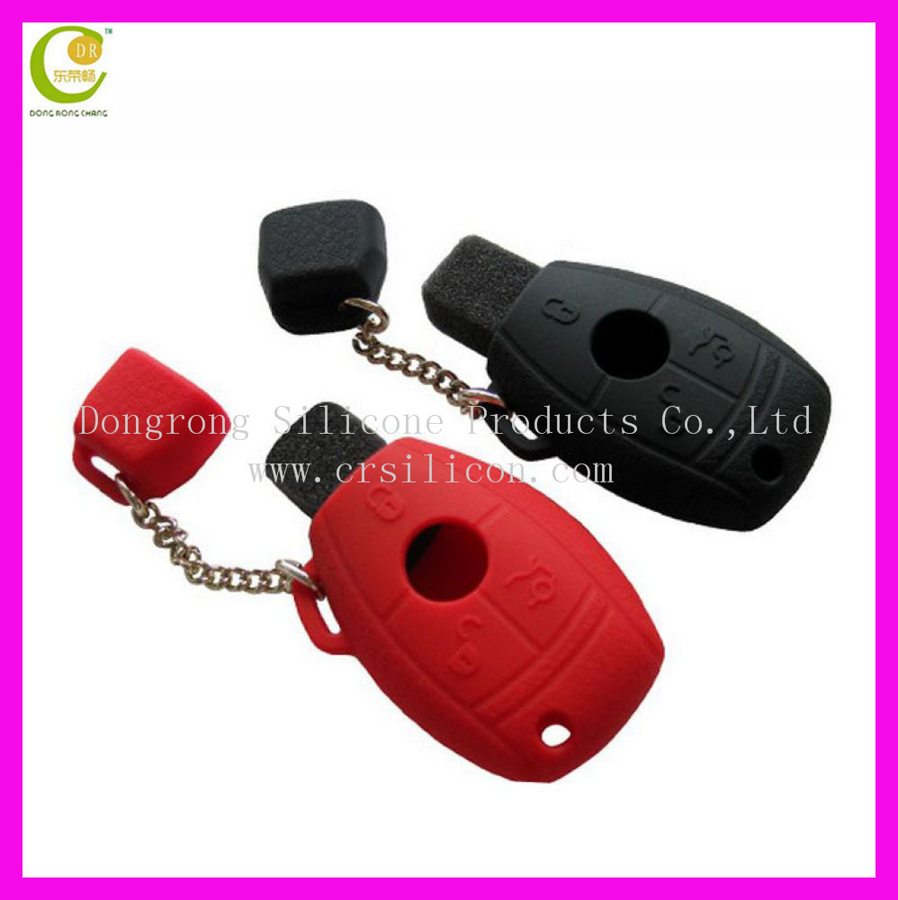 MW030 button remote key silicone cover / silicone car key cover case with yellow