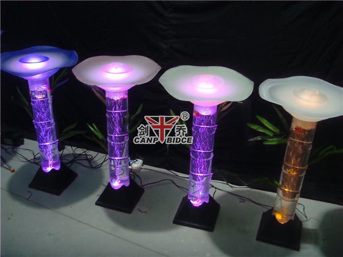 Cast Acrylic Tube Aquarium Led Lighting Water Lamps With Fake Fish ...
