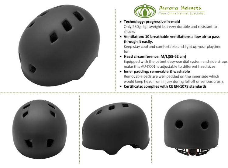 In-mold safety BMX/custom skate helmet 5