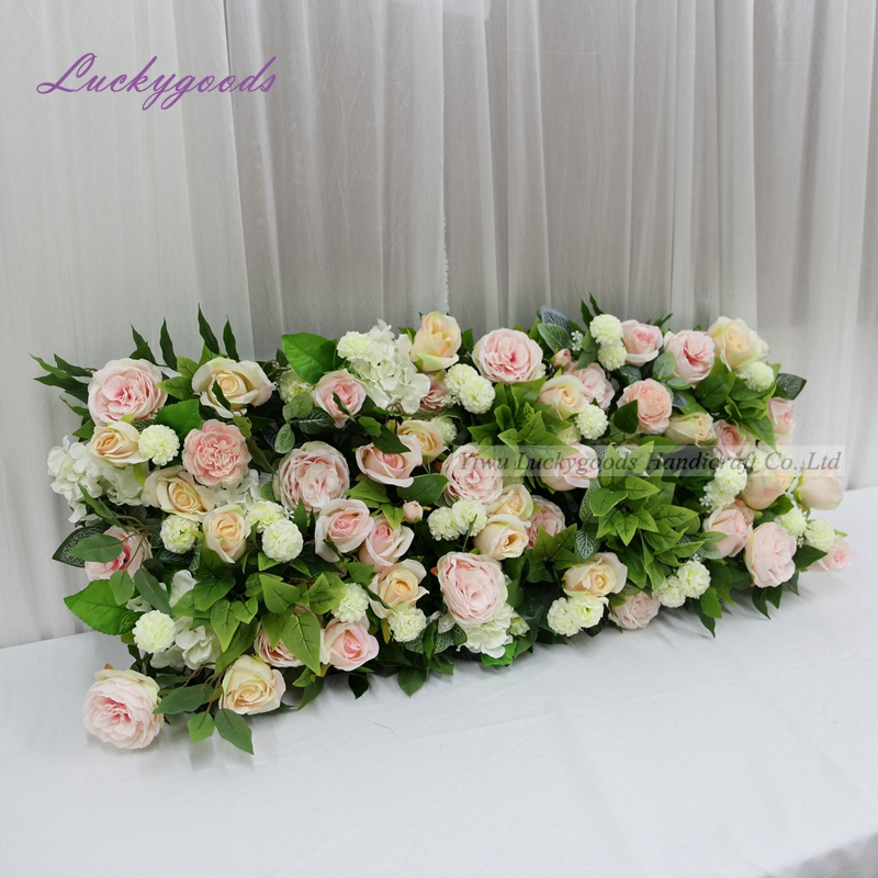 LFB1313 populaire selling baby pink rose pioen bloem bruiloft board panel met greenery