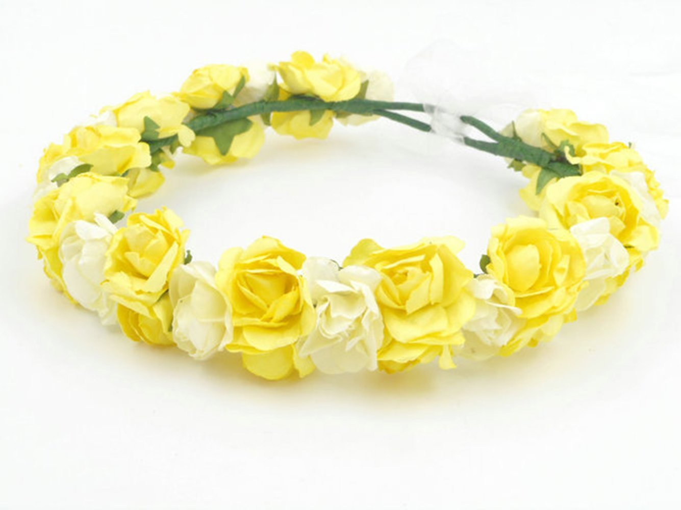 Cheap yellow flower paper find yellow flower paper deals on line at get quotations fairy beach hawaiian paper flowers tiara crown headband for flower girl wedding headwear hair decorations holiday izmirmasajfo