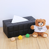 High Quality Fancy PU Leather Napkin Box Tissue Boxes For Restaurant Car Hotel Home Usage In Stock