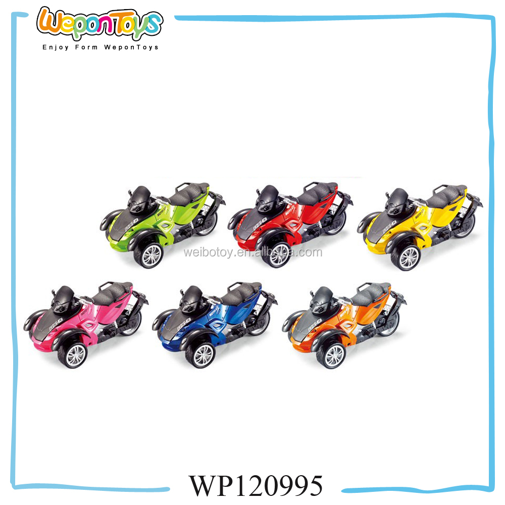 promotional 1:18 scale pull back die cast motorcycle metal craft motorcycle models with sound and light