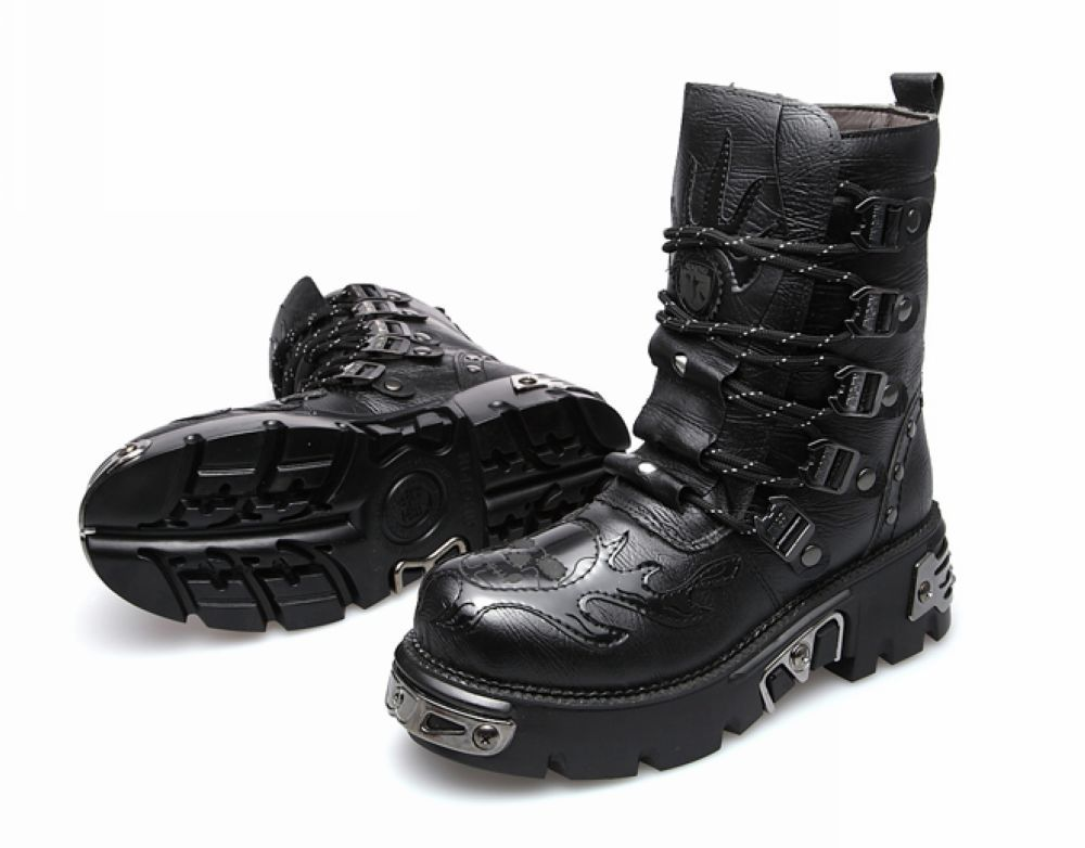 "Super Popular~NWB Men's motorcycle boots Riding boots Martin sneakers High-top shoes Black/Brown Colors Free Shipping US 5""-9.5"""