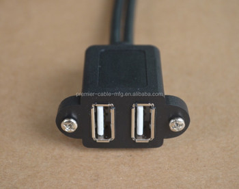 Dual Usb Type A - Panel F To 2x5 F
