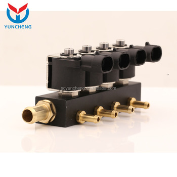 Yci03019 Sequential Injection Conversion Kit 4 Cylinder Cng Lpg Injector Rail