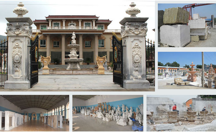 Natural Classical Marble Stone Column Statue