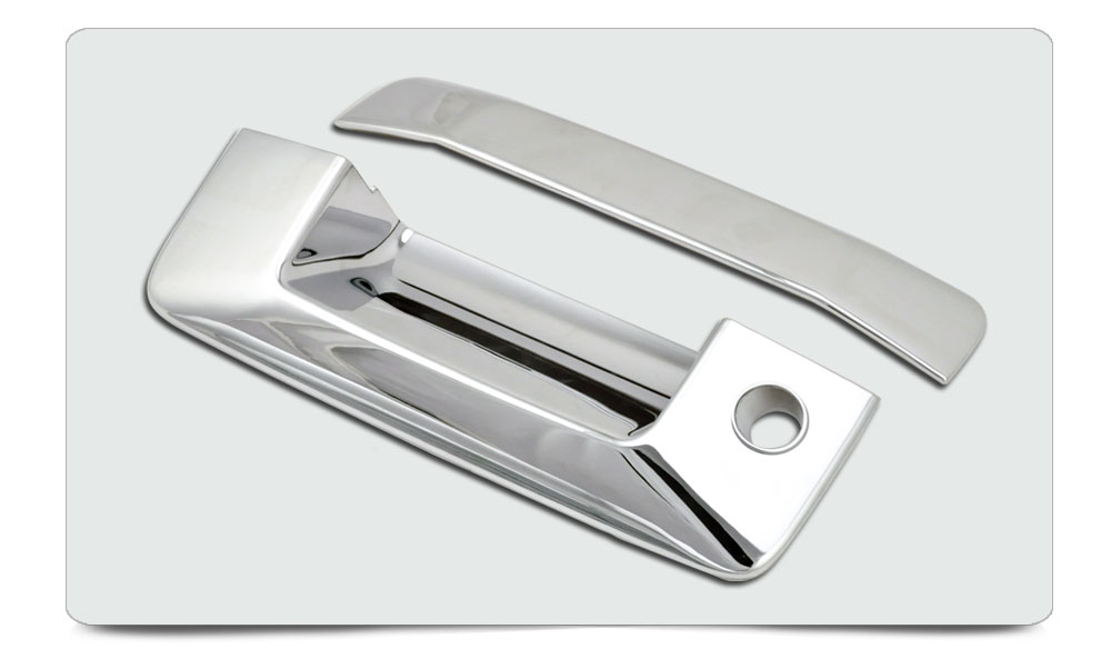 2014-2015 Chevy Silverado/ Sierra Auto Parts Tail Gate Tailgate Handle Cover ABS Chrome W/ Keyhole, W/O Camera Cutout