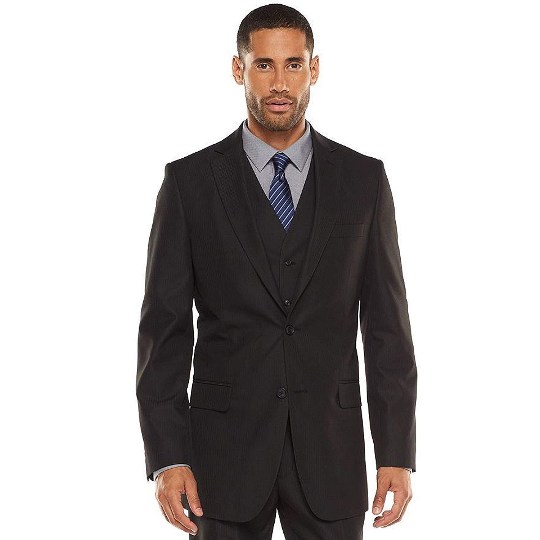 afceaf71b54052 Get Quotations · Apt 9 Men's Modern-Fit Striped Black Suit Jacket and Vest
