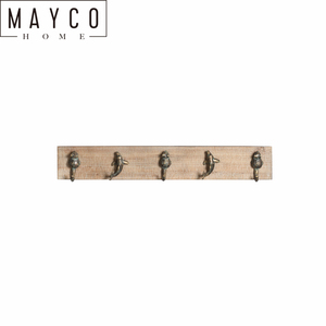 Mayco Rustic Cast Iron Flog and Dolphin Wall Hook Hanger Decor Beach Nautical Towel Holder