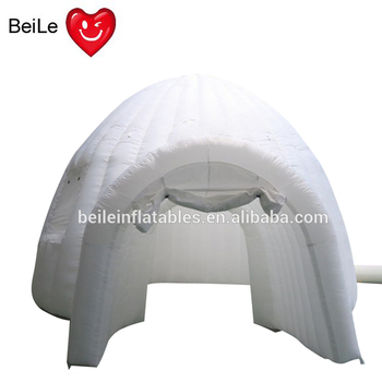 White inflatable dome tent for outdoor party