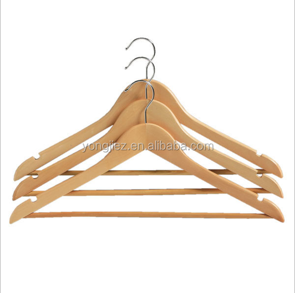 Cheap hot selling wooden clothes hanger
