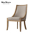 French restaurant linen upholstered wood dining chair for dining room