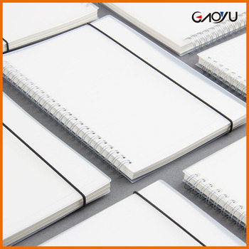 Simple Customized A5 B5 A6 Creative Transparent Cover Double Coil Ringed Notebook