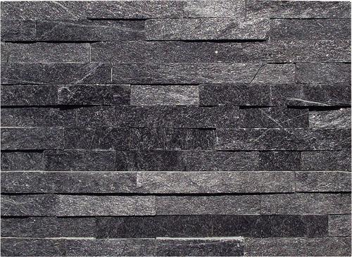 China naturaleza negro pizarra revestimiento de piedra for Precio revestimiento piedra