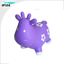 Cute and durable use soft pvc inflatable jumping animal toy for child riding