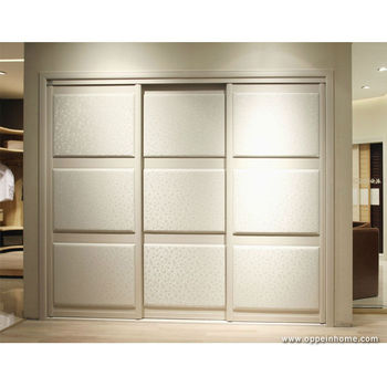 Bedroom Furniture Modern Wardrobe With 3 Sliding Doors
