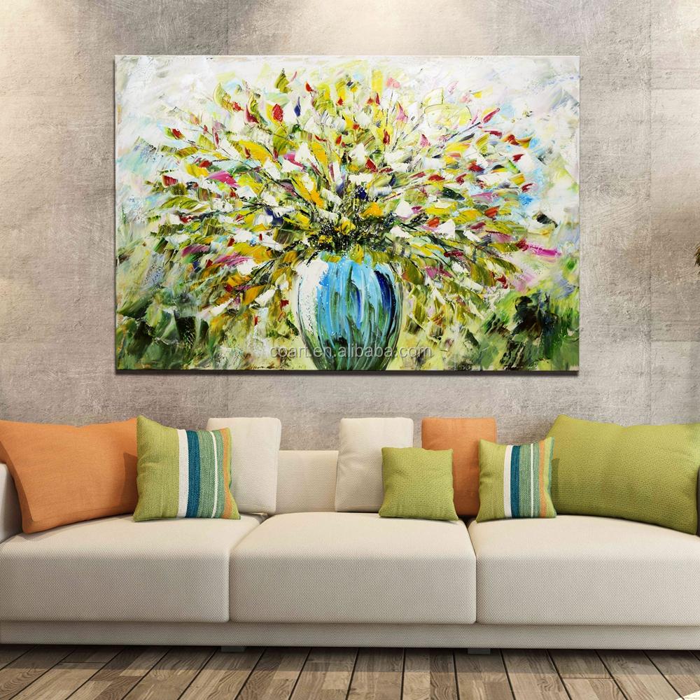 Moderne Stil Rahmen Abstract Floral Öl Blumen Vase Malerei Designs ...