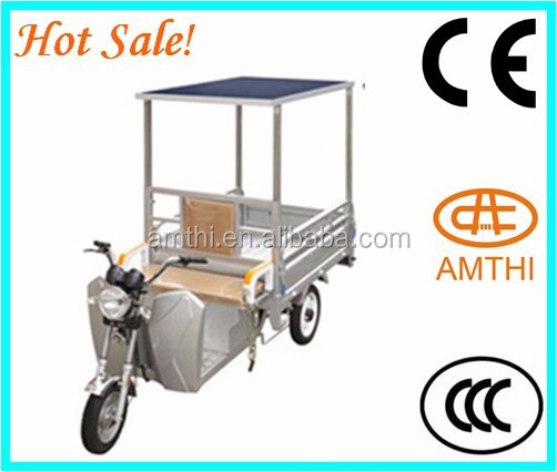 Pedicab Rickshaw Electric Solar Panel Tricycle For Sale,Battery Powered Solar Tricycle Used For Cargo,Amthi