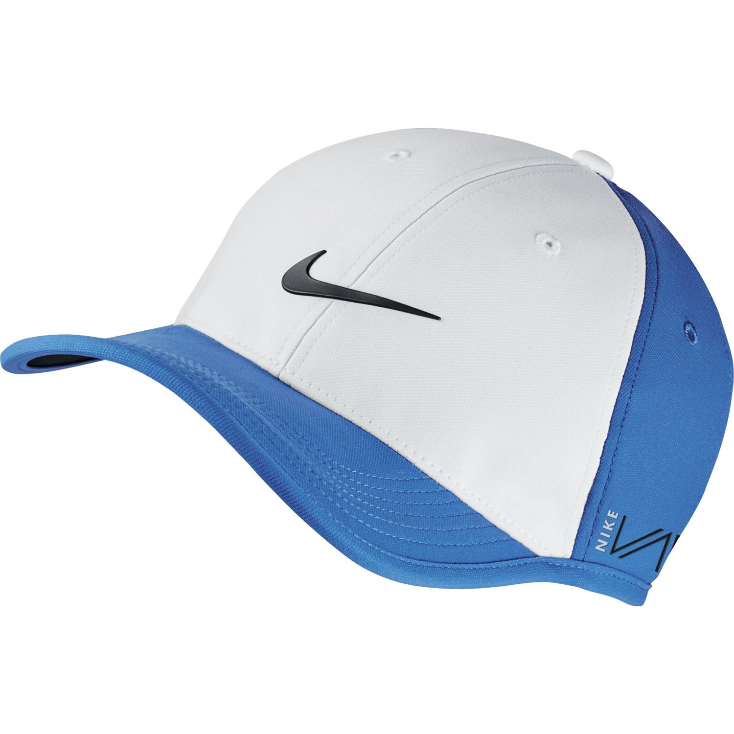 eac8448bcdf NEW Nike UltraLight Tour RZN VAPOR Adjustable White Photo Blue Black Hat