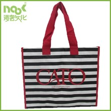 Full Printing streak pattern shopping PP Woven bag with thick 160gsm material