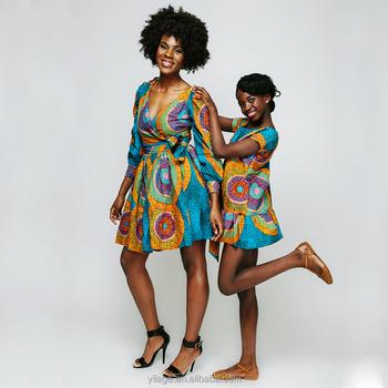 b9da7ebf2e0 Latest African Designs Long Sleeve African Print Wrap Dress for Women