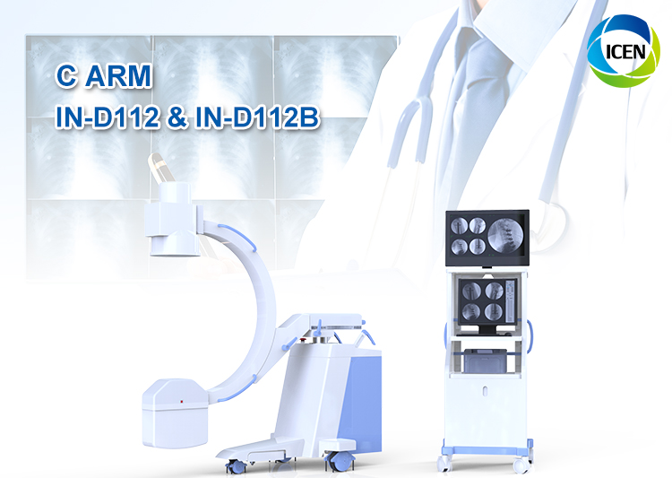 IN-D112&B C Arm Medical Scanner Digital Fluoroscopy X-Ray Unit Radiography Mobile Mini C Arm X Ray Equipment