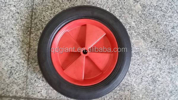 10 Inch solid black rubber wheel tire 10x1.75