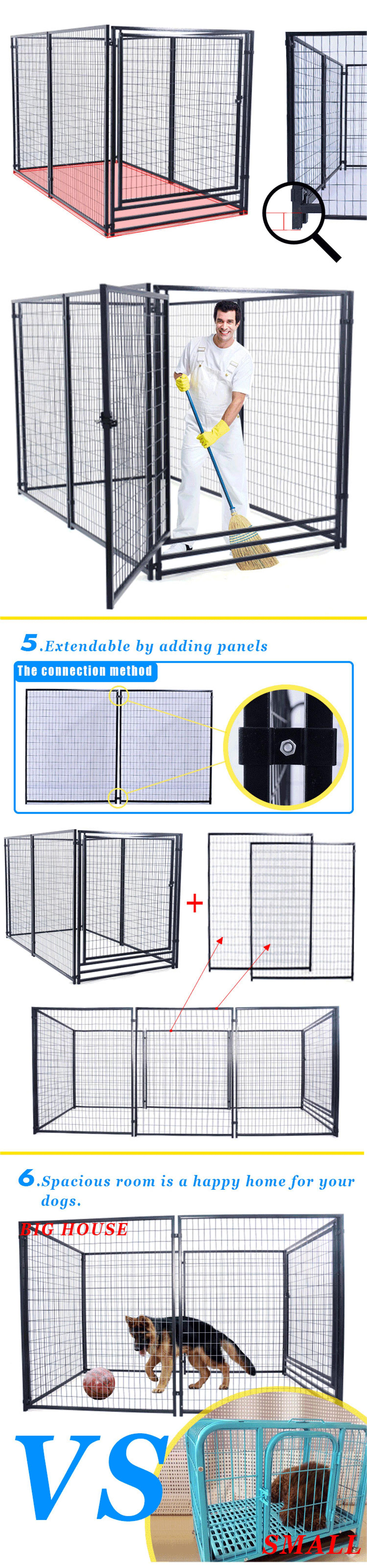 Manufacturer wholesale welded wire panel dog kennel and runs