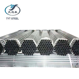 EN 10255 astm a53 galvanized 2mm thickness steel pipe erw welded carbon steel round tube gi pipe myanmar for construction