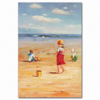 Famous Digital Modern Beach Children Oil Painting Abstract Paintings On Canvas