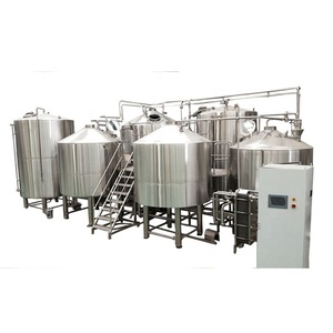 Hot sale pub hotel brew machine, stainless steel two/three vessel beer brewing equipment with steam heating 10hl-50hl