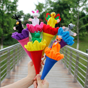 Small animal series peek-a-boo toys telescopic rod crow children's parent-child puzzle calm doll game props