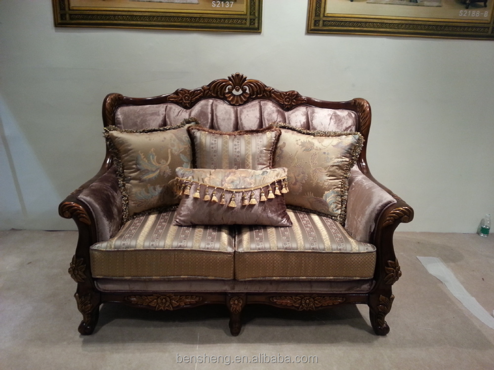 Foshan Furniture Living Room Furniture Sofa Set Handmade Wood