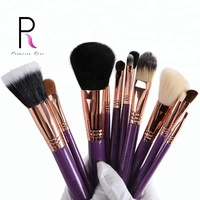12 Pcs Travel Makeup Brush Set Makeup Brushes Powder Blush Brush Goat Hair