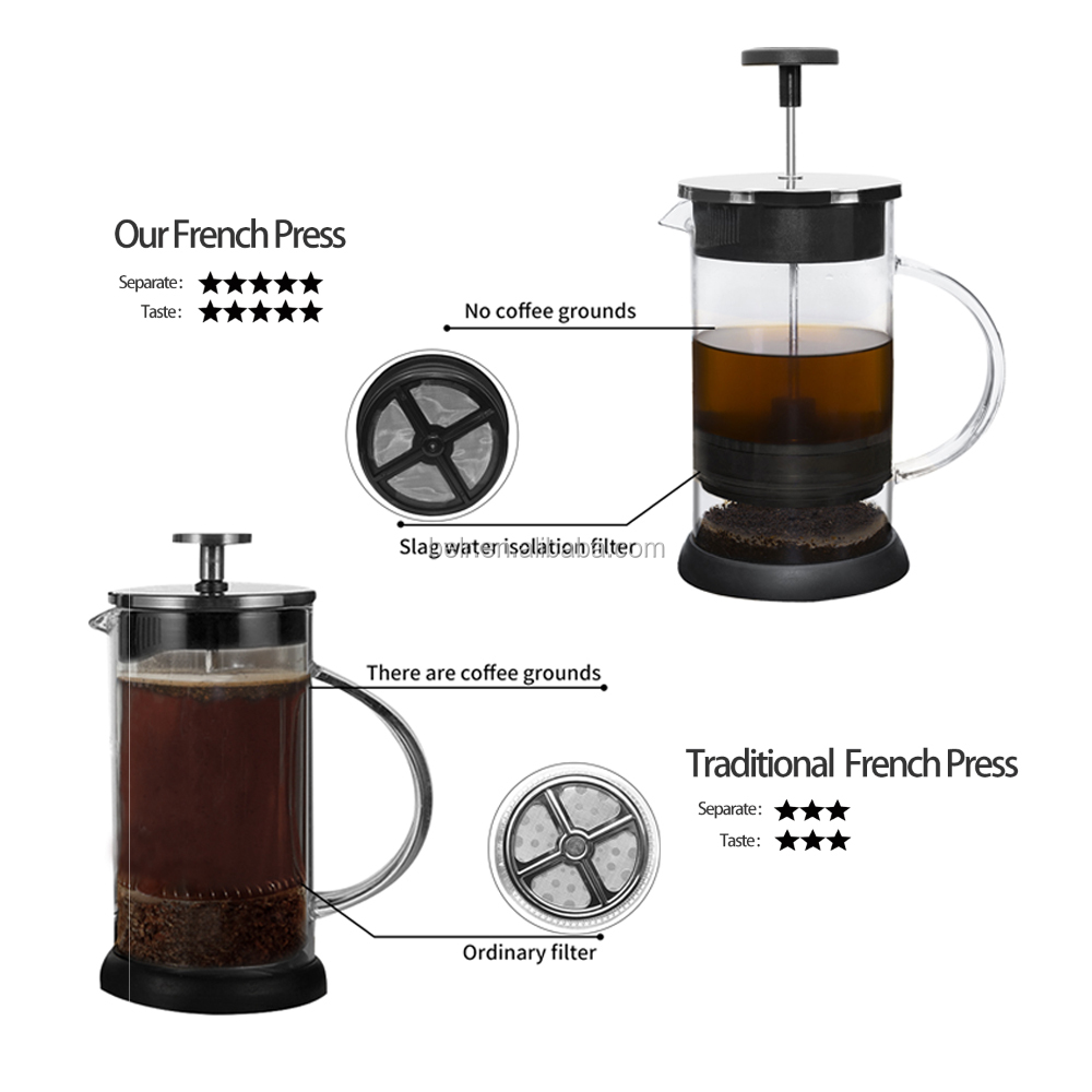 Hot Deal PYREX Copper French Coffee/Tea Press1000ML