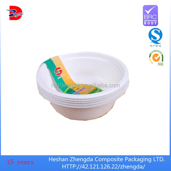 Paperboard Water Proof Food Grade Paper Bowls Microwave For
