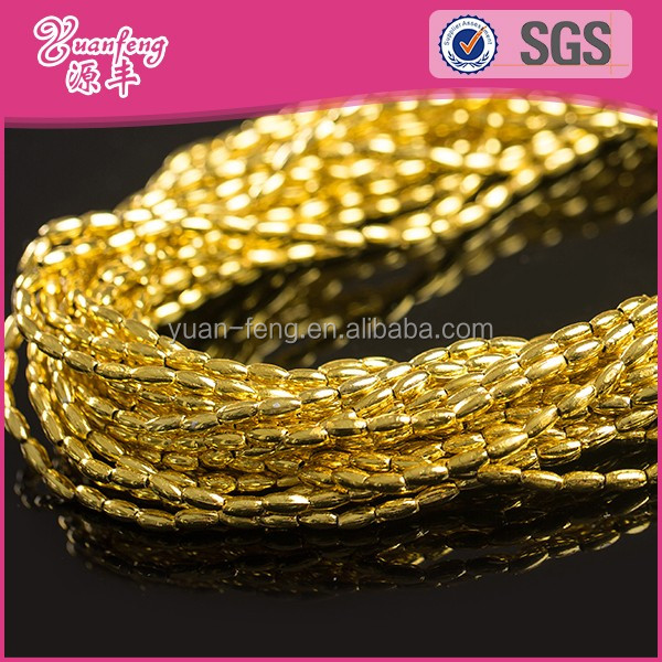 landing wholesale fashion jewelry findings 3*6mm rice beads gold filled jewelry