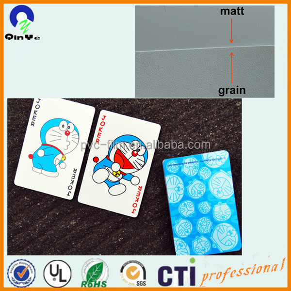100% Waterproof PVC Plastic Playing Cards Sheet With Excellent Flexibility