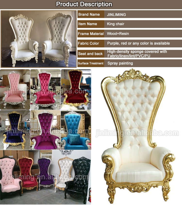 White Royal Wedding Throne Chairs For Party