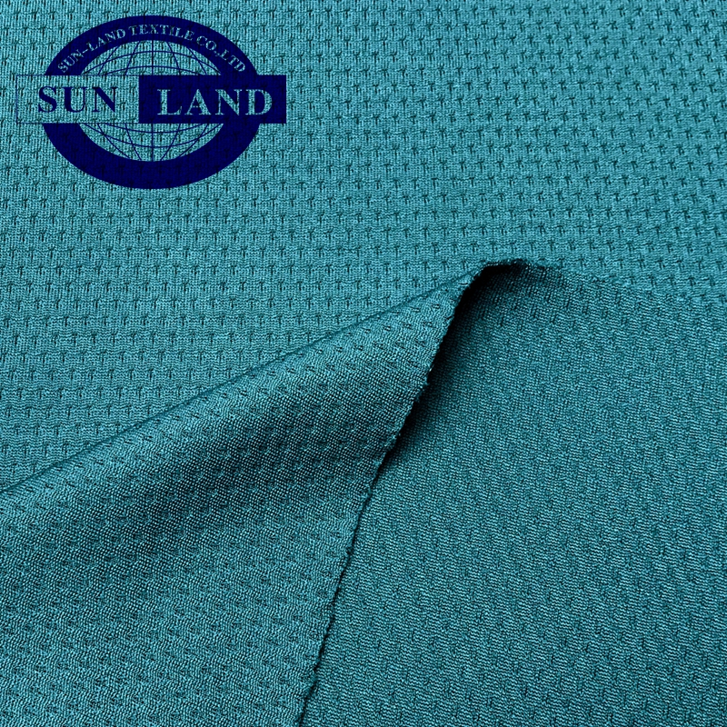 100% polyester jacquard knitted dry fit coolpass mesh fabric for T- shirts