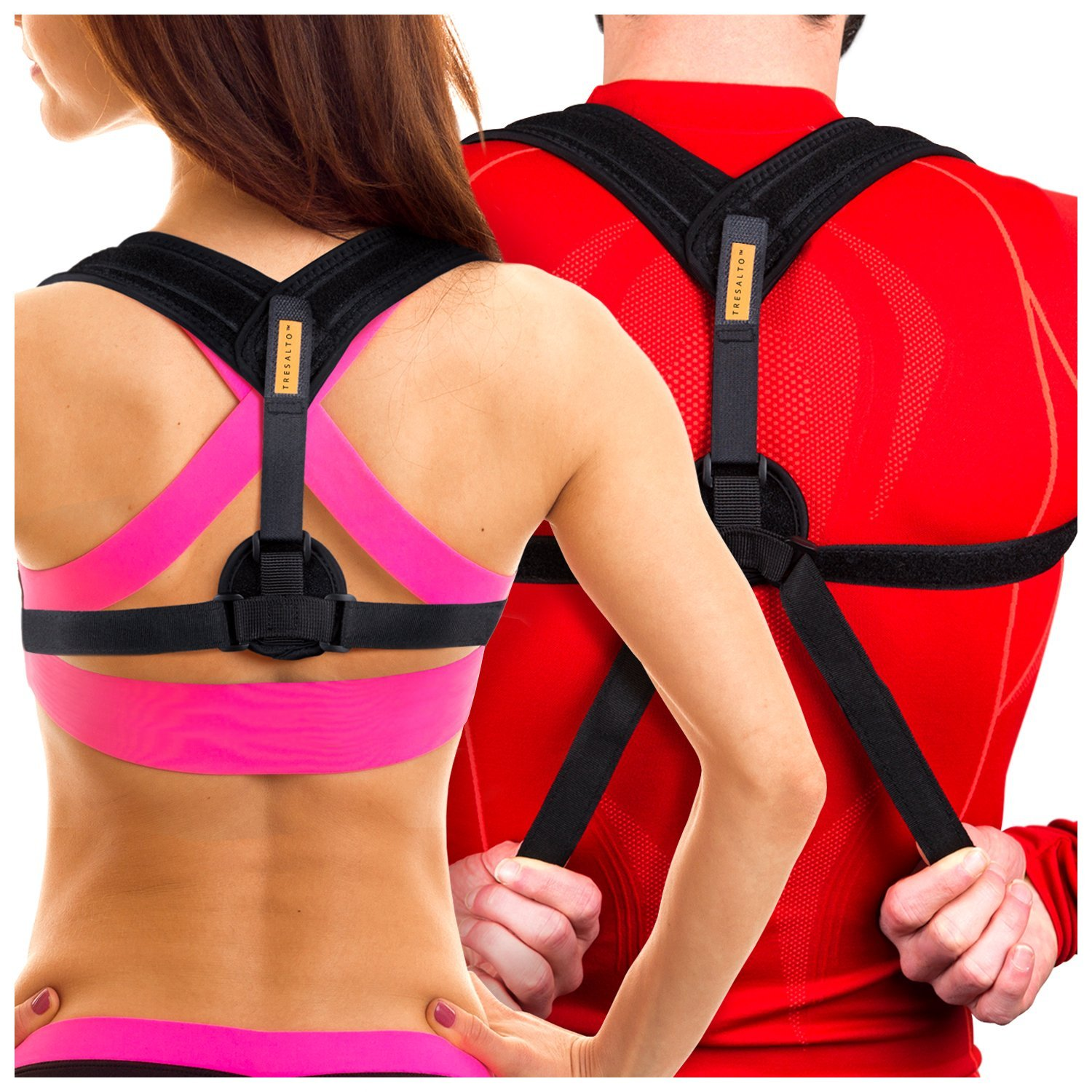 Tresalto Back Posture Corrector For Women & Men - Effective and Comfortable Orthopedic Primate Clavicle Support Brace for Slouching & Hunching with Descret Design