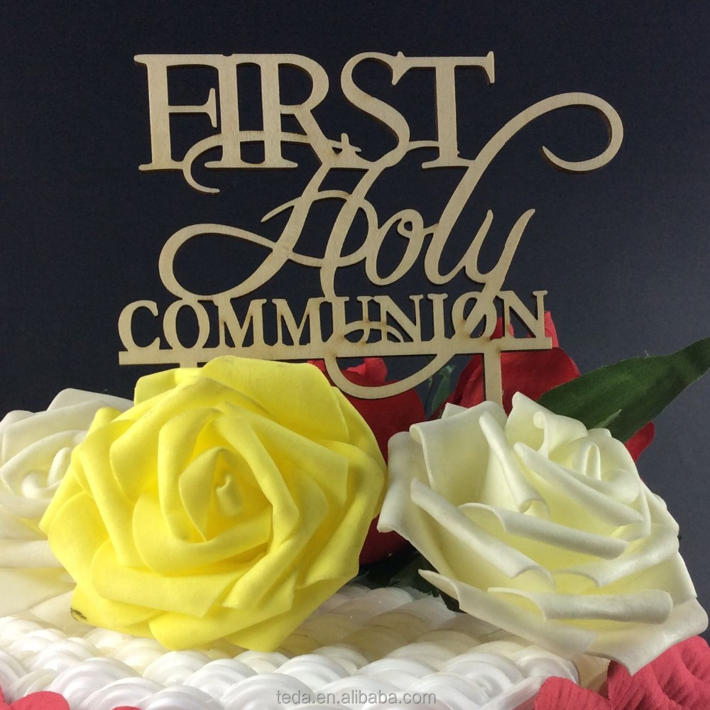 Natural First Holy Communion Wedding Engagement Party Wood Cake ...