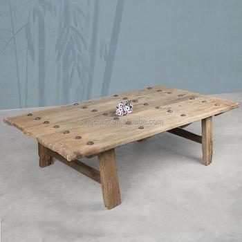 Mobilier Industriel Ancien En Bois Récupéré Table Basse Ancienne