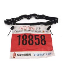 Reflective Running Number Bibs Holder Custom Race Number Belt with Gel Holders Bag Running Marathon Triathlon Race Number Belt
