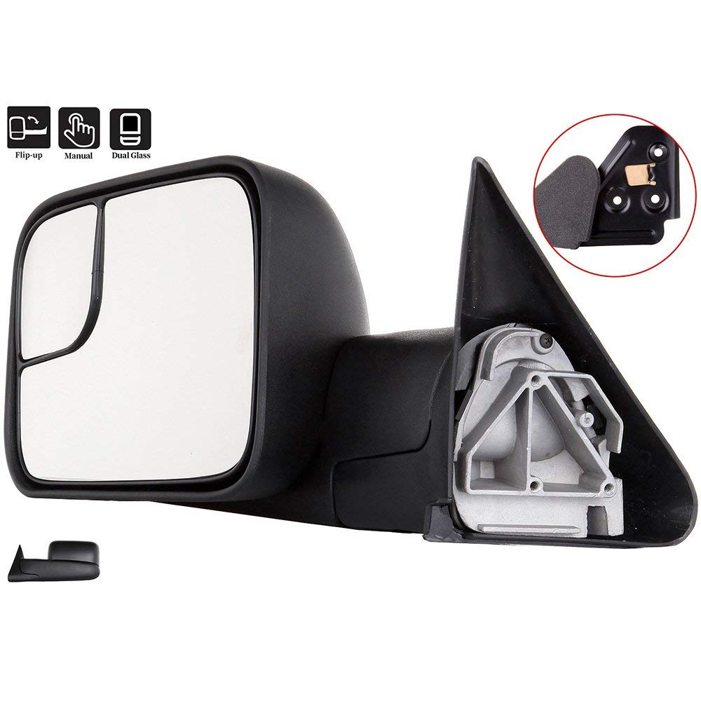 Dodge Towing Mirrors SCITOO Driver Side Rear View Mirrors for 1994-2001 Dodge Ram 1500 2500 3500 with Manual Control Manual Telescoping and Manual Folding Feature