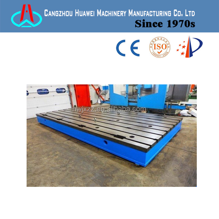 testing cast iron surface plate bed plates in the electronics industry